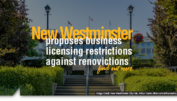 New Westminster proposes business licensing restrictions against renovictions