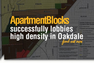 , ApartmentBlocks Successfully Lobbies High Density in Oakdale