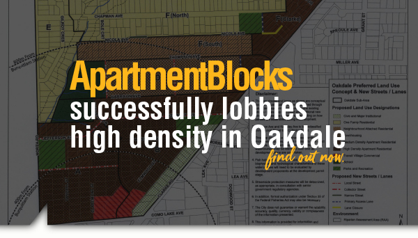 ApartmentBlocks Successfully Lobbies High Density in Oakdale